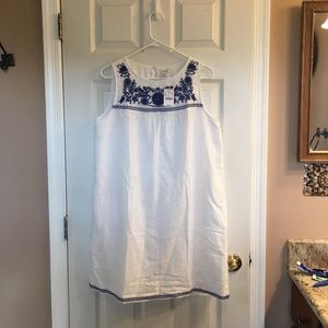 J. Crew embroidered shift dress. Medium. Brand new